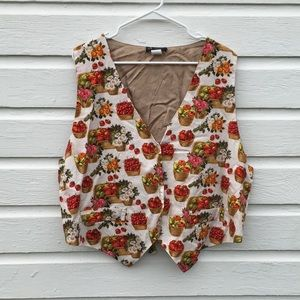 Vintage fall apple vest 2X